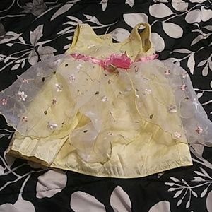 Yellow and Pink spring dress